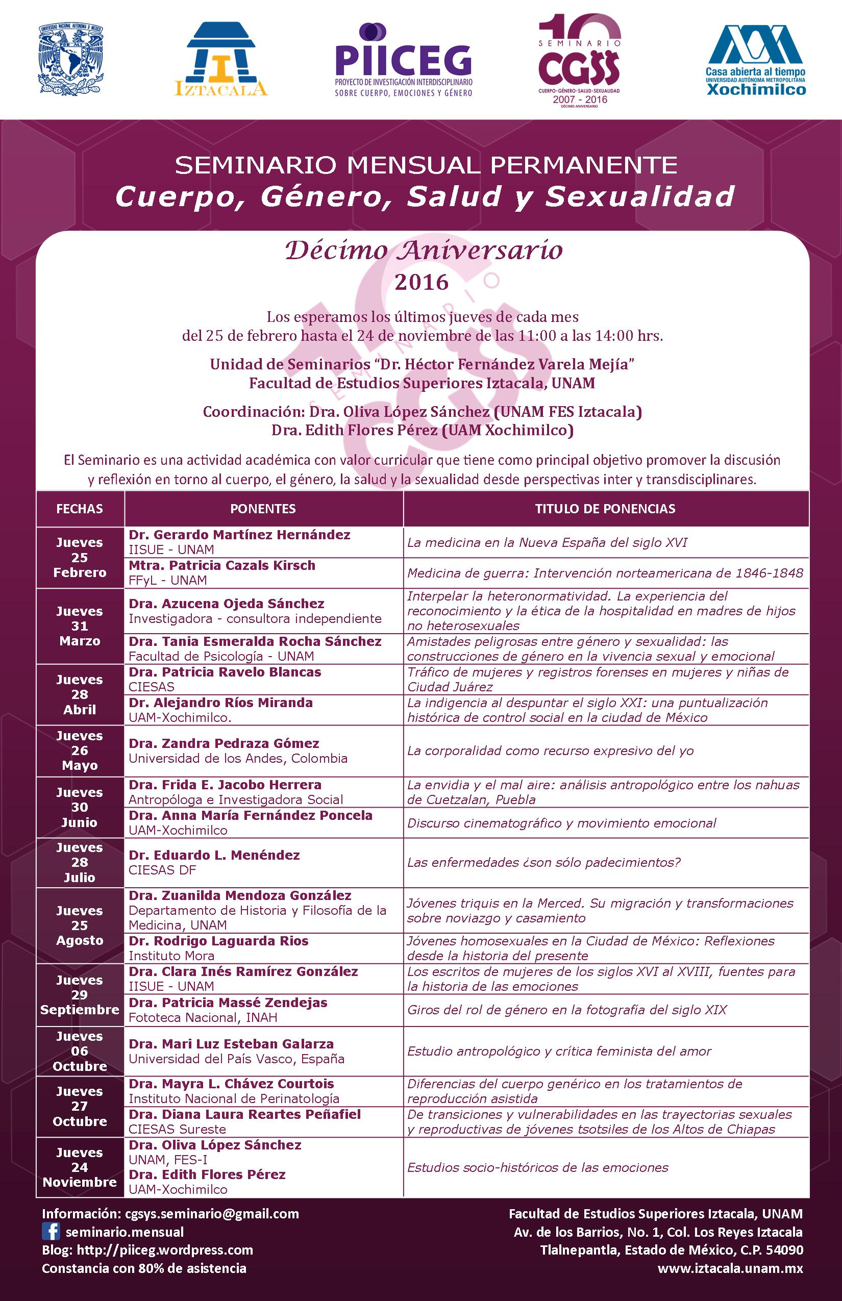 Programa Seminario CGSyS 2016