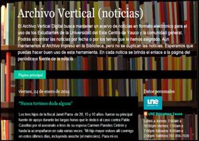 Portal del Archivo Vertical de la Universidad del Este, Centro de Yauco. Puerto Rico. 26 de mayo de 2014.