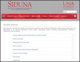 Portal del Archivo Vertical de la Universidad Nacional, Costa Rica. 26 de marzo de 2014.