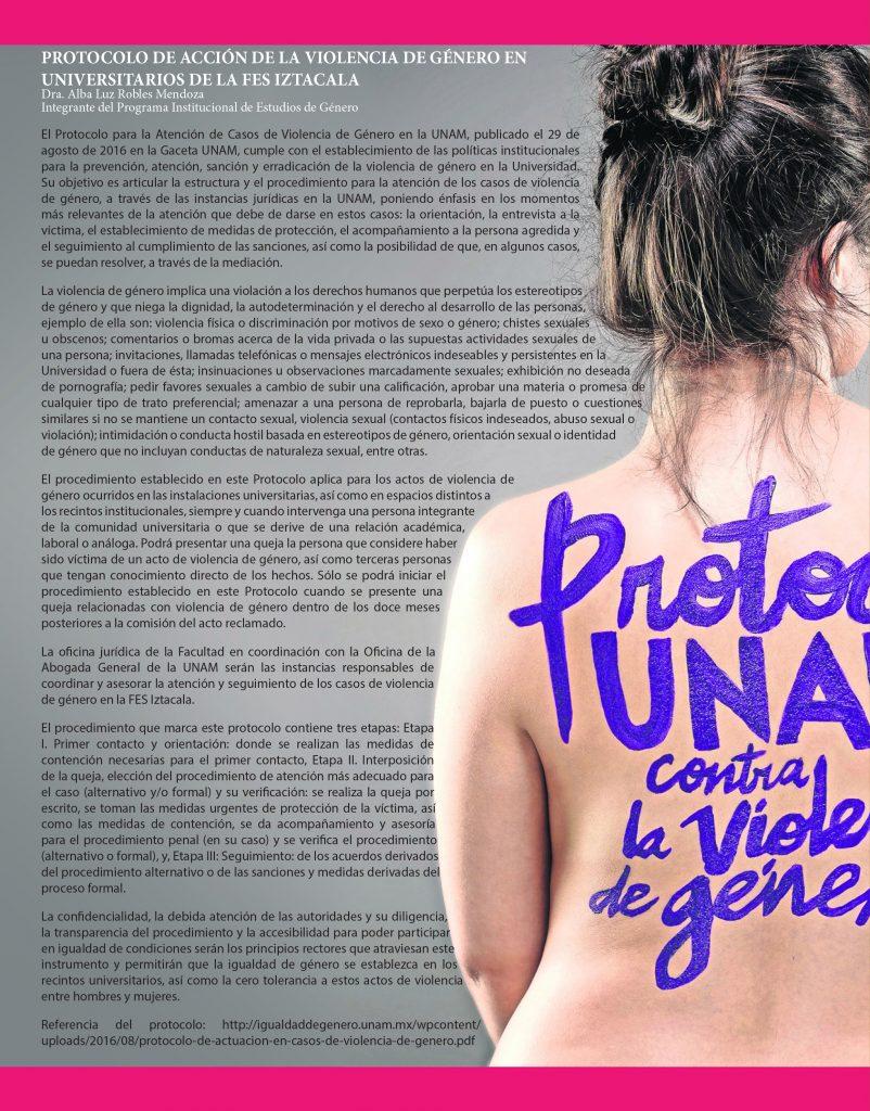 Protocolo de Acción de la Violencia de Género en universitarios de la FES Iztacala