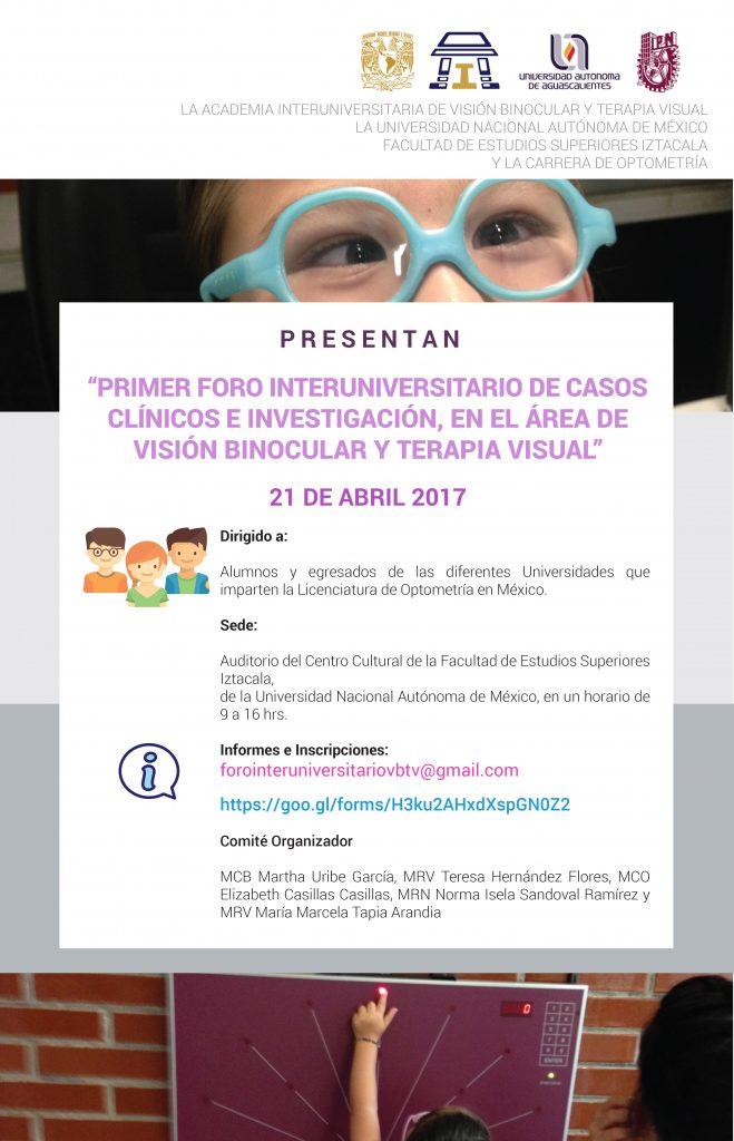 Primer foro interuniversitario de casos clínicos e investigación en el área de visión binocular y terapia visual