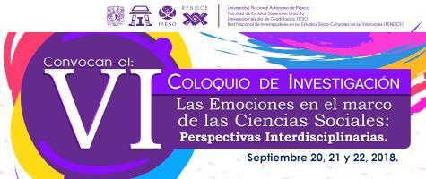 COLOQUIO DE INVESTIGACIÓN: LAS EMOCIONES EN EL MARCO DE LAS CIENCIAS SOCIALES